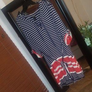 Nautical horizontal striped dress